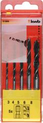 KWB set svrdla za drvo, 3-8 mm, 5/1 (513900)