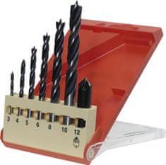 KWB set svrdla za drvo, 3-10 mm, glodalica, 12 mm, 7/1 (514200)