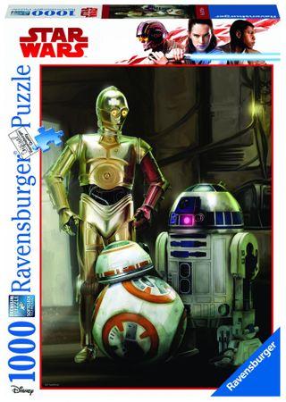 Ravensburger Disney Star Wars: C 3PO, R2 D2 & BB 8 1000 dílků