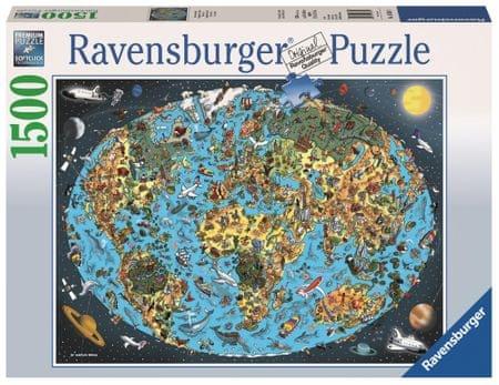 Ravensburger sestavljanka Risana zemlja, 1500 kos