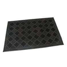 FLOMAT Gumová vstupní kartáčová rohož Squares - 60 x 40 x 0,7 cm