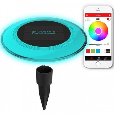 MiPOW Playbulb™ Solar - chytré zahradní a bazénové LED osvětlení - rozbaleno