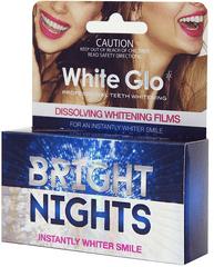White Glo Bright Nights rozpúšťacie zubné pásky