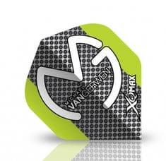 XQMax Darts Letky Michael van Gerwen - MvG green grey F1706