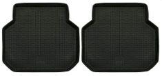 POLGUM Gumové koberce, univerzálne, 2 ks zadné, čierne, rozmery: 47,5 x 51,5 cm