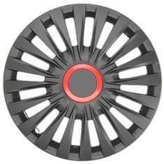 "JAWOPLAST Puklice na kolesá ENZO BR veľ. 14 "", sada 4 ks, čierno - červené"