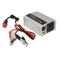 WHITENERGY Menič napätia do auta 12/230 V, 350 W s USB