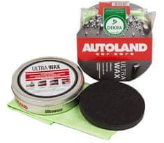 AUTOLAND Vosk na lak, tvrdý, s UV filtrom a voskom Carnauba, s hubkou a utierkou, 100 g
