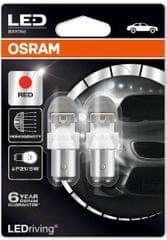 Osram Žiarovka typ P21/5W, 12V, 2/0,4W, LEDriving červená