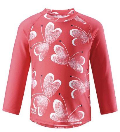 Reima otroška majica z dolgimi rokavi Borneo, Bright red, UV 50+, 74 rdeča