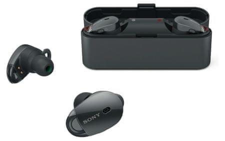 SONY WF-1000X, Vezeték nélküli zajszűrő fülhallgató, Fekete