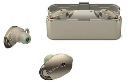 SONY WF-1000X Vezeték nélküli zajszűrő fülhallgató, Arany