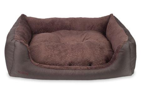 Argi postelja za psa z blazino, Aspen, rjava,S