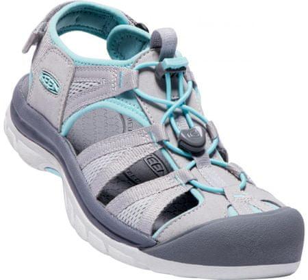 KEEN ženski sandali Venice II H2 Paloma/Pastel Turquoise, sivo-modri, US 8 (38,5 EU)
