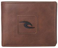 Rip Curl moška denarnica Rider RFID 2 v 1, rjava