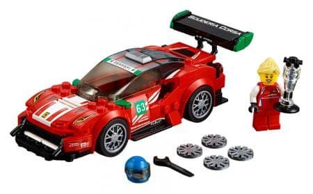 LEGO dirkalni avto Speed Champions 75886 Ferrari 488 GT3 Scuderia Corsa