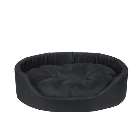 Argi pasja postelja z blazino, črna, S