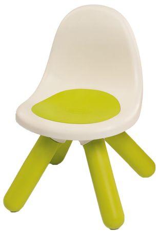 Smoby stolček z naslonjalom, zelen