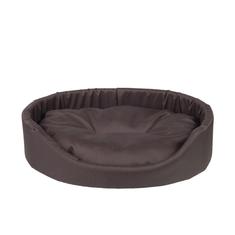 Argi ovalna blazina za psa, z blazino, rjava