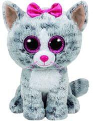 TY Beanie Boos šedá mačička KIKI, 24 cm - Medium