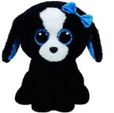TY Beanie Boos čierno-biely pes TRACEY, 24 cm - Medium