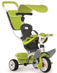 Smoby tricikel Baby balade 2, zelen