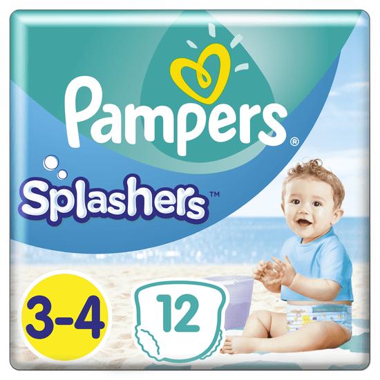 Pampers Splashers 3-4 Plenkové kalhotky do vody (6-11 kg) 12 ks