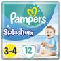 1 - Pampers Splashers 3-4 Plenkové kalhotky do vody (6-11 kg) 12 ks