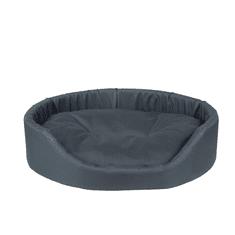 Argi ovalna blazina za psa, z blazino, temno rjava