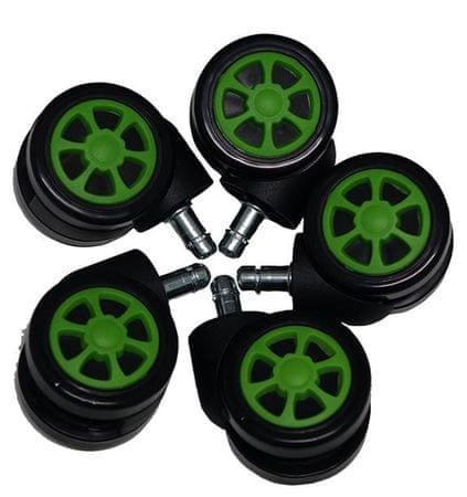 UVI Chair univerzalni gumirani koleščki spirala, zeleni - Odprta embalaža