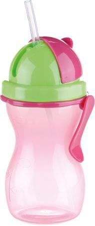 Tescoma BAMBINI gyermekpohár szívószállal, 300 ml rózsaszín
