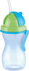 Tescoma BAMBINI gyermekpohár szívószállal, 300 ml kék