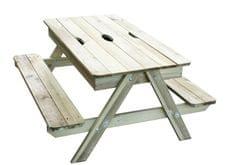 TRIGANO stolík drevený piknik s úložným priestorom