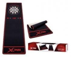 XQMax Darts Dartmat - Koberec k terči - black-red