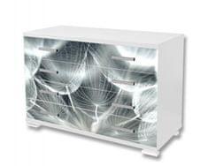 Dimex Nálepky na nábytok - Púpava v šedom, 85 x 125 cm