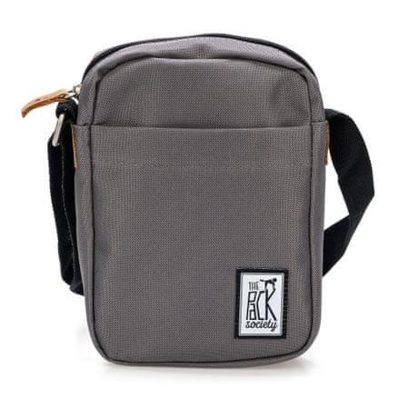 The Pack Society unisex šedá crossbody taška