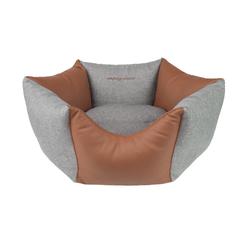 Argi šestkotna postelja za psa - Classic, rjavo siva
