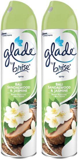 Glade Spray Santalové dřevo z Bali 2x 300 ml