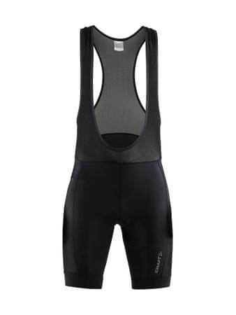 Craft moške kolesarske hlače z naramnicami Rise, črne, M