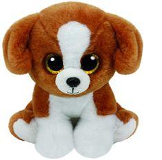 TY Beanie Babies SNICKY - hnedý pes 24cm