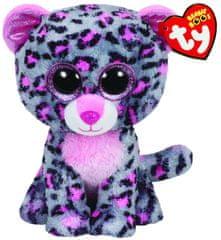 TY Beanie Boos šedo-ružový leopard TASHA, 62 cm - XL