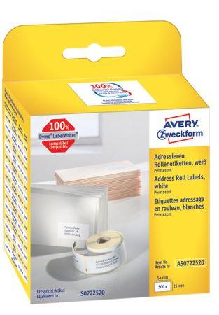 Avery Zweckform etikete na kolutu AS0722520, za Dymo in Seiko termalne tiskalnike, 25 x 54 mm