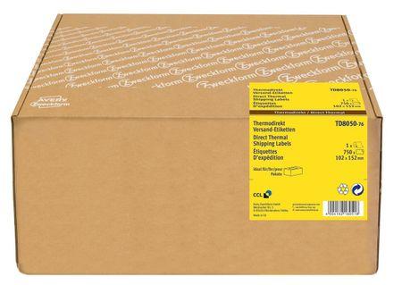 Avery Zweckform etikete TD8050-76, za termalne tiskalnike, 102 x 152 mm, notranji premer koluta 76 mm