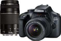 CANON EOS 4000D + 18-55 + 75-300 (3011C010) fényképezőgép