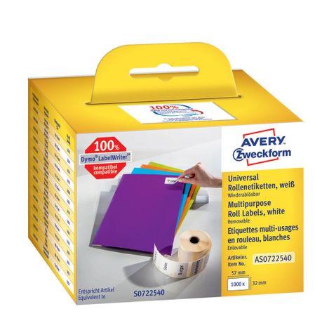 Avery Zweckform večnamenske etikete AS0722540, za Dymo termalne tiskalnike, 32 x 57 mm