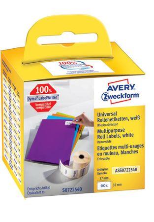 Avery Zweckform večnamenske etikete ASS0722540, za Dymo termalne tiskalnike, 32 x 57 mm