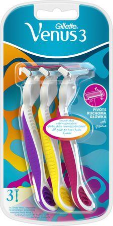 Gillette maszynka do golenia Venus3 Dispo 3 Multicolor