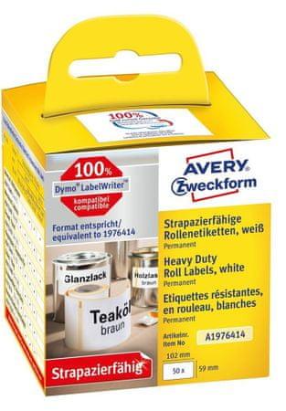 Avery Zweckform zelo odporne etikete A1976414, za Dymo tiskalnike, 59 x 102 mm