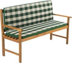 Fieldmann poduszka na ławkę ogrodową FDZN 9108 zielona w paski