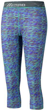 Mizuno Impulse 3/4 Printed Tight Multi Prt/Blue Atoll női nadrág, M